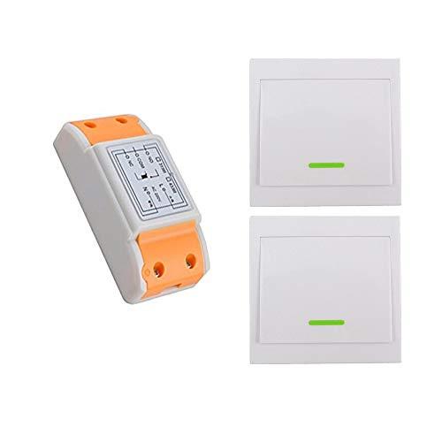 1 canale ac220v interruptor remoto Kit de Interruptor de Luces Inalámbricas Control...
