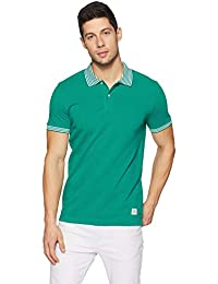 United Colors of Benetton Men's Striped Regular Fit Polo