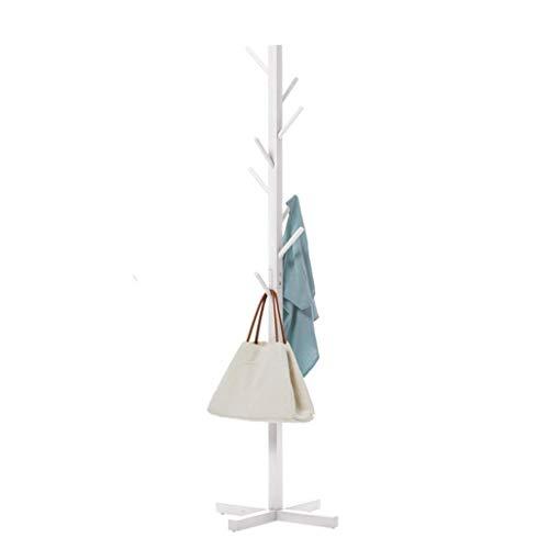 HAIYUGUAGAO Garderobe Hall Tree Coat Hut Rack freistehende Moderne Eingangsbereich aus Holz Kleiderständer Hut Ecke Hall Umbrella Stand Baum für Schlafzimmer Wohnzimmer Büro (rot , weiß) - Tree Coat