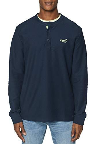 ESPRIT Herren 039EE2J003 Sweatshirt, Blau (Navy 400), Medium (Herstellergröße: M)