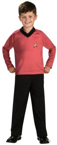 (Rubies Kost-me 185921 Star Trek Classic Red Red Kinderkost-m Medium - 8-10)