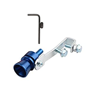 FeMereina Turbo Whistler Turbo Auspuff Sound Zischen Fauchen Pop Off Blow Off, Turbo Sound Pfeifen Auspuff Endrohr Ventil Aluminium - 4 Größe (Blau, S)