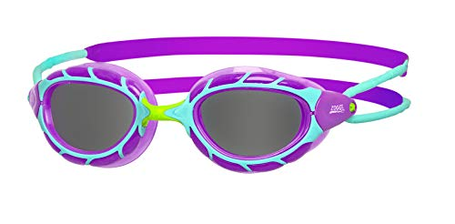 Zoggs Unisex Jugend Predator Junior Schwimmbrille, Purple/Light Blue/Smoke, One Size