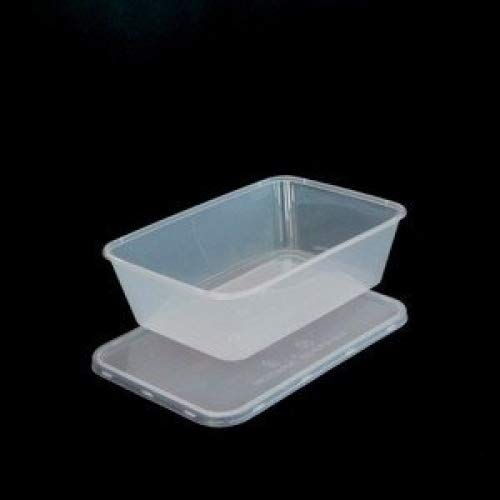 Aliments réutilisables en plastique Idéal pour le micro-ondes, réfrigérateur, congélateur, lave-vaisselle, Capacité: 650 ml, contenance 10 pièces