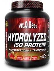 Vit-O-Best Hydrolyzed Iso Proteínas, Sabor a Fresa - 907 gr