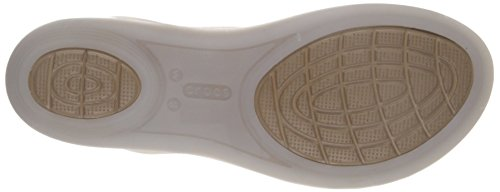 Crocs Isabella Sandal W, Chaussures à Bouts Ouverts Femme, Island Green Bianco (Oys)