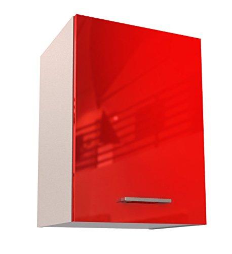 Berlioz Creations Haut Meuble de Cuisine 1 Porte, Panneaux de Particules, Rouge, 40 x 33,3 x 55,4 cm
