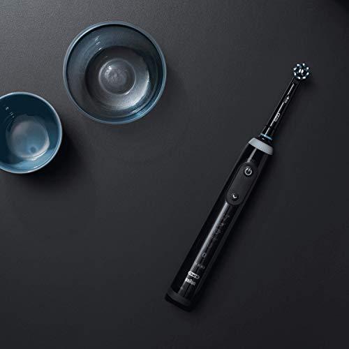 Oral-B Genius X Elektrische Zahnbürste, mit künstlicher Intelligenz und Premium Lade-Reise-Etui, midnight black