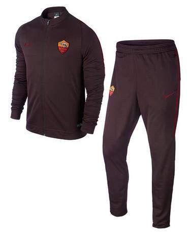 2015-2016 AS Roma Nike Knit Tracksuit (Mahogany) - Kids
