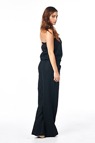 High Style Damen Jumpsuit Schwarz - Solid Black