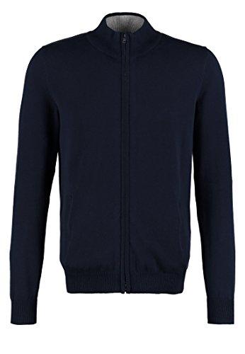 Pier One Strickjacke für Herren - Cardigan aus Feinstrick - Jacke mit Baumwolle in Dunkelblau, M