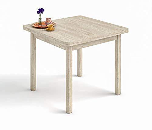 Mesa Cuadrada Multiusos Comedor Cocina Dimensiones 90 cm x 90 cm Extensible...