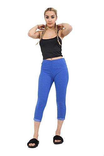 Mymixtrendz® Women Ladies Stretch 3/4 Capri Short Denim Look Jeggings Leggings