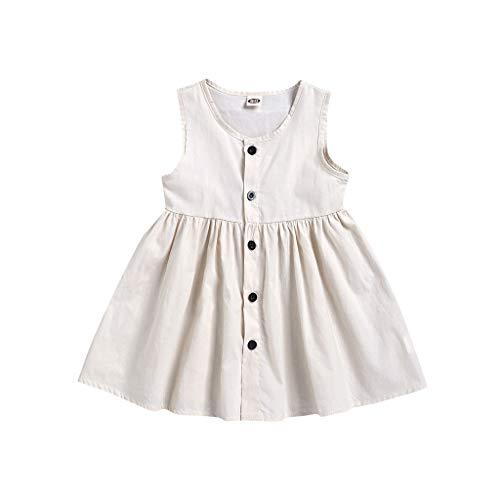 LEXUPE Kleinkind scherzt Baby-Feste ärmellose untere Prinzessin Dress Clothes(Weiß,100)