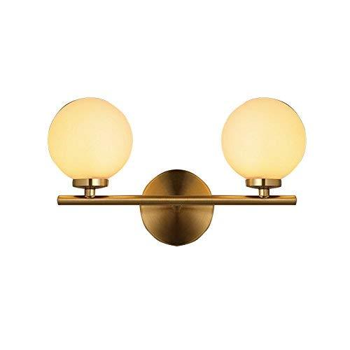 Blasen Globe Anhänger (WENYAO Vintage 2 Light Wandleuchte Industrielle Wandleuchte mit Dual 7,5 \u0026 rdquo; Globe Glass Lampenschirm G4-Bronze)