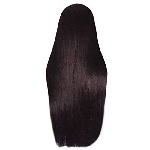 1PC Women's Sexy Fashion Long Straight Wig Black Fiber Hair Wigs Fringe Perücke For Party Club Costume Daily Life 25''(65cm) -