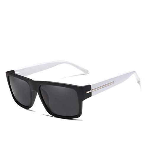 Taiyangcheng Sonnenbrillen Herren Polarized Sonnenbrillen Herren Schwarz Frame Shades,weiß grau