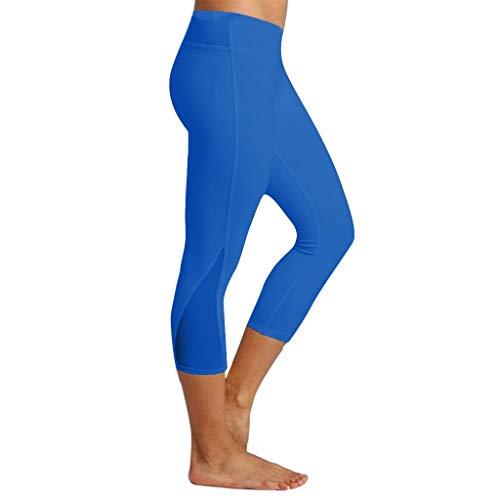 YUNMENG Frauen-Gamaschen-Eignungs-Sport, der dünnes festes Yoga-athletische Hosen-Waden-Längen-Hosen-Art- und Weisetraining-Sportkleidung 2019 Laufen lässt Neu