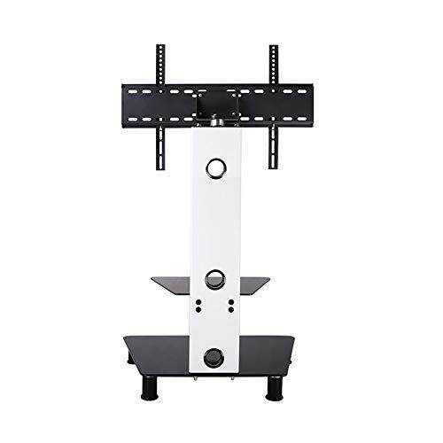 n Universal-Glas-TV-Ständer mit drehbarer Halterung für 37 bis 60 Zoll LED-LCD-TV-Mobil-TV-Wagen Office Home Display ()