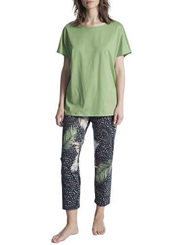 Calida Cosy Cotton Shore Pyjama 7/8 Damen -