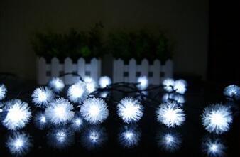 ZLL/ LED-Leuchten/Feuerball in Licht/Schneekugel string Lichter/solarbetriebene Zeichenfolge Leuchten/Lampen , white -