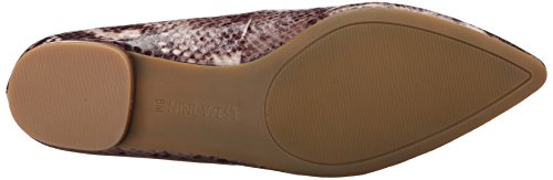 Nine West Onlee Toe Pointy synthétique plat Dark Natural Multi
