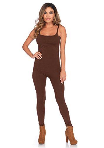 Leg Unitard (Basic Brown Adult Costume Unitard Small/Medium)