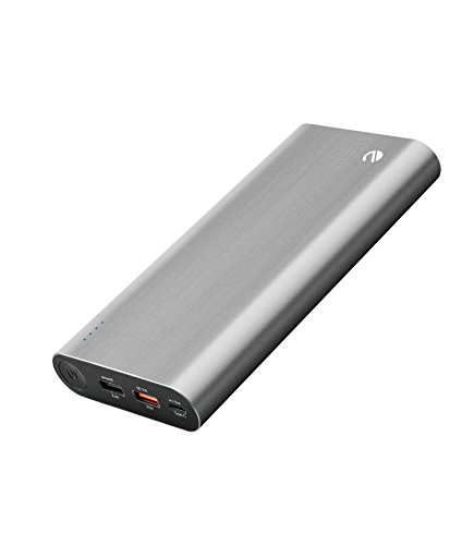 eeco Powerbank 20400mAh 40W Power Delivery Quick Charge 3.0 Externer Akku USB Type-C für MacBooks, Samsung Galaxy S8/S7/S6, Apple iPhone, iPad, LG G6, Google Pixel, Motorola, Nexus, Blackberry