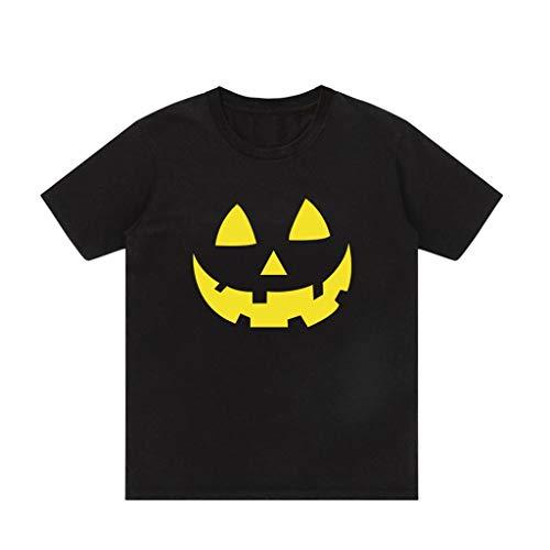 Setsail Herren Neues Fashion Halloween Bedruckte Rundhals Hip Hop Kurzarm Top Bluse T-Shirt Lässiges Spaßmantel Festliches Kostüm Geeignet für Indoor- und Outdoor-Aktivitäten -
