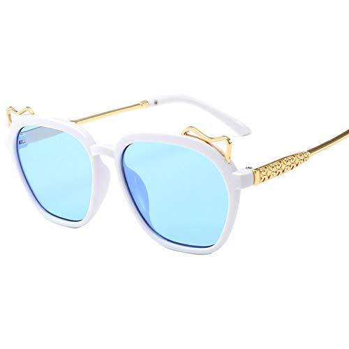 Taiyangcheng Kinder Sonnenbrillen Steampunk Kind Schwarz Sonnenbrille Anti-Uv Baby Sun-Shading Brillen Girl Boy Sonnenbrillen,Blau