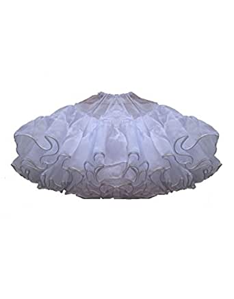 Zarlena Rockabilly Petticoat Unterrock (Weiß)