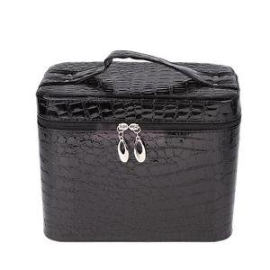 Alcoa Prime Lady Crocodile Travel Cosmetic Bag Makeup Case Pouch Toiletry Organizer