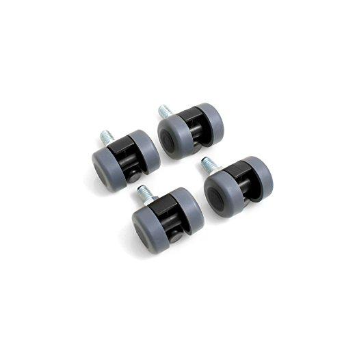Design61 Doppelrolle Möbelrolle Möbelrollen Möbel Doppel Rolle mit Gewindestift M10x15mm