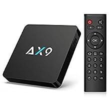 2018 Android 7.1 TV Box de Nouvelle Génération 1Go Rom 8Go eMMC Bqeel AX9 4K HD Quad Core Android TV Box WIFI IEEE 802.11b/g/n 2.4G