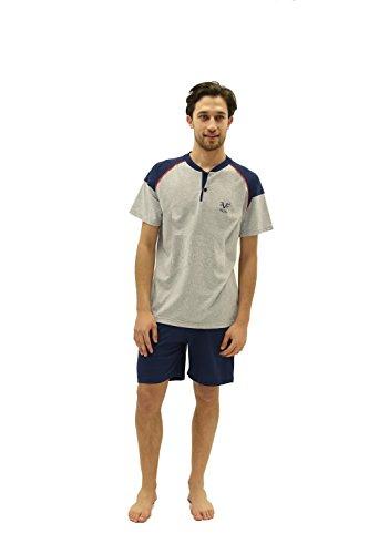 Versace 19.69 - Pyjama 27-9091V für mann, kurzarm Blau