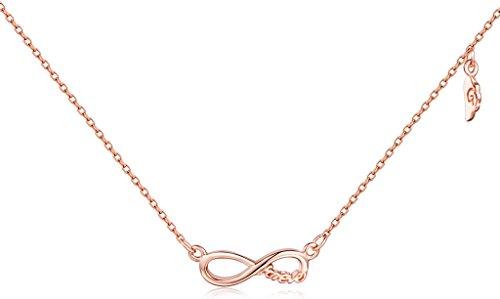 'Yumi Lok argento/oro rosa 925in argento Sterling simbolo dell' infinito
