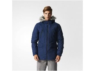 Adidas SDP Fur–Chaqueta para Hombre, Azul, Large