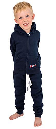 Gennadi Hoppe Kinder Sweat Jogginganzug Sportanzug Trainingsanzug, Navy, 134/140
