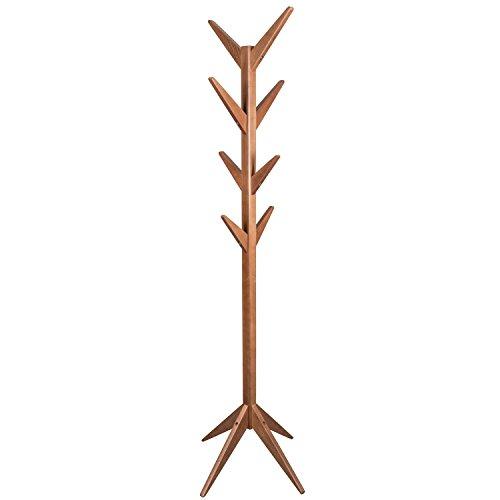 Schwarzwald Massivholz Garderobenständer James aus Massivholz in DREI Farben Garderobe Hutständer Jackenhalter Holzfarbe: Nussbaum