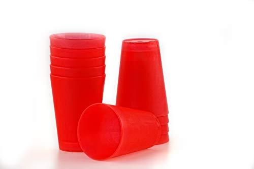 S&S-Shop 10 Plastik Trinkbecher 0,4 l - rot - Mehrwegtrinkbecher/Partybecher / Becher