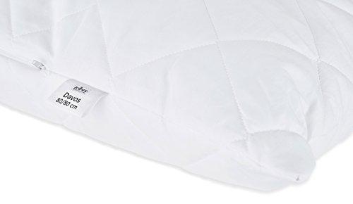 """ZOLLNER® hochwertiges kochfestes Kopfkissen 80×80 cm, Füllgewicht: ca. 840 g, mit Reißverschluss in vielen weiteren Größen erhältlich, direkt vom Hotelwäschespezialisten, Serie """"Davos"""" - 3"""