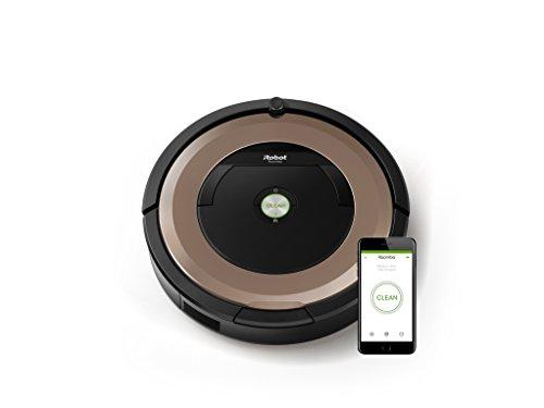 *IRobot Roomba 895 Saugroboter (hohe Reinigungsleistung, keine Verhedderungen und mit Dirt Detect, reinigt alle Hartböden und Teppiche, ideal bei Tierhaaren, WLAN-fähig) kupfer*