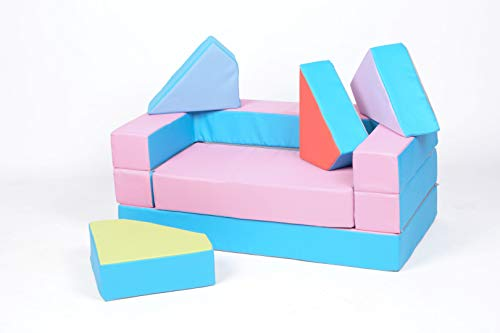 Letto Futon Bimbi : Bambini divano letto futon bambini puzzle pink blue