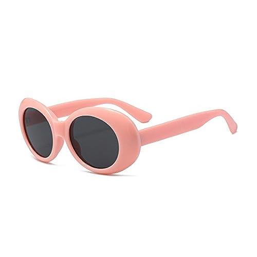 BOZEVON Rétro UV400 Femmes & Hommes ovale Lunettes de soleil Goggles Rose-Noir C5 lwCFUS7Y