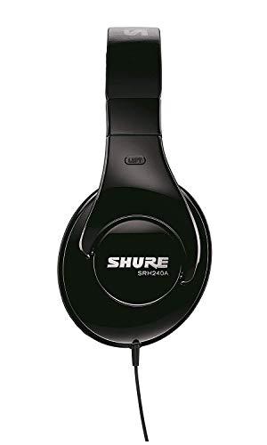 Shure SRH240A, geschlossener Kopfhörer / Over-ear, schwarz, geräuschunterdrückend, druckvolle Bässe und detaillierte Höhen - 3
