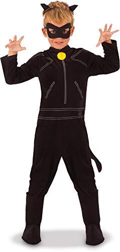 Rubie's-déguisement officiel - Miraculous  -Déguisement Classique Chat Miraculou, Garçon, Noir-Taille M- 640904-M