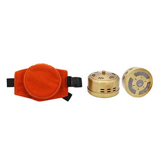 Moxa Stick Burner Box rauchfreien Moxa Luftreiniger Kupfer Tank mit verstellbarer Tasche Moxibustion Behandlung Therapie Box für Taille Hals Knie Arthritis Schmerzen zu entlasten (Von Behandlung Und Boxen Taschen)