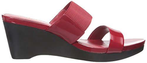 Lauren Ralph Lauren Rhianna Wedge Sandal Bright Red