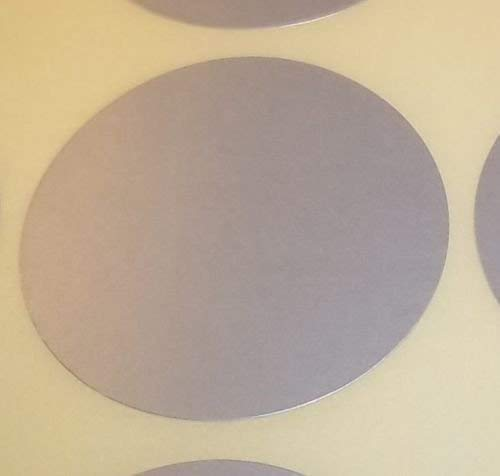 38mm Audioprint Ltd Paquete de 100 Redondo Color C/ódigo Lunares en Blanco Precio Pegatinas Rojo