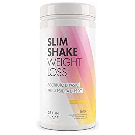 SLIM SHAKE sostituto pasto dimagrante – polvere per shake dimagranti al gusto vaniglia da Get In Shape